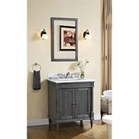 "Fairmont Designs Rustic Chic 30"" Vanity for 1-1/4"" Top - Silvered Oak 143-V30"