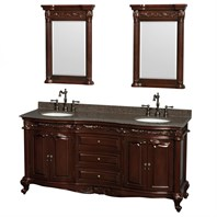 "Edinburgh 72"" Double Bathroom Vanity by Wyndham Collection - Cherry WC-J233-72-DBL-VAN-CHE"