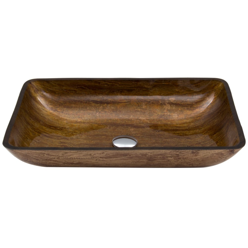 Vigo Rectangular Sunset Glass Vessel Sink - Ambernohtin Sale $125.90 SKU: VG07046 :