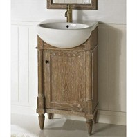 "Fairmont Designs Rustic Chic 20"" Vanity & Sink Set - Weathered Oak 142-V20"