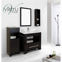 "Virtu USA Masselin 36"" Single Sink Bathroom Vanity Set - Espresso ES-2436-C-ES"
