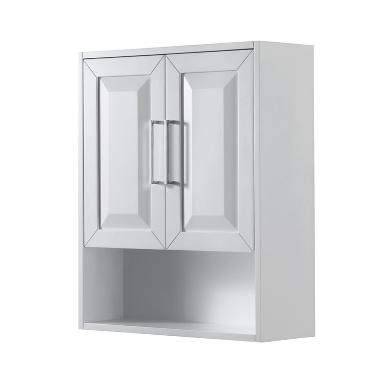 Daria Over-Toilet Wall Cabinet by Wyndham Collection - White WC-2525-WC-WHT