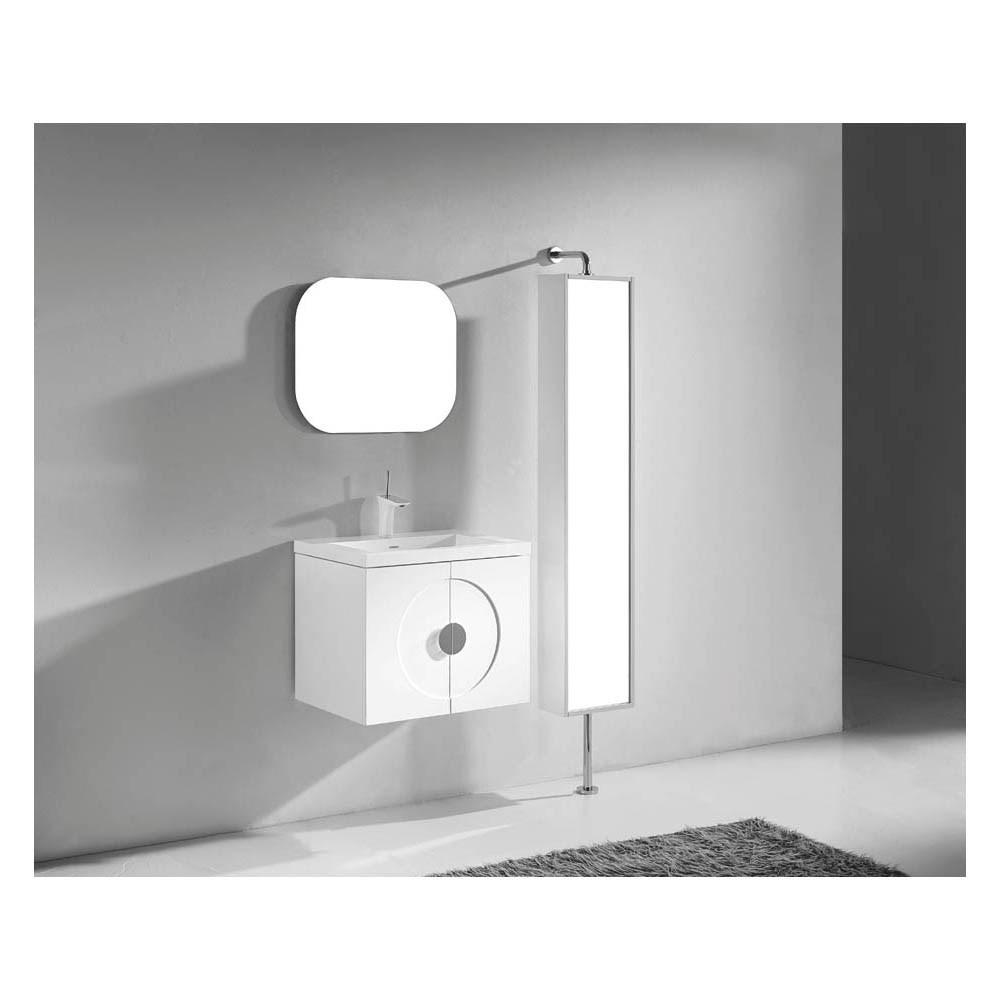 "Madeli Palermo 24"" Bathroom Vanity with Integrated Basin - Glossy Whitenohtin"