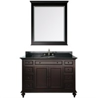 "Merlot 49"" Single Bathroom Vanity Set - Espresso"