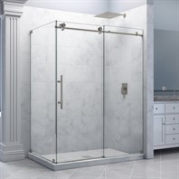 "Bath Authority DreamLine Enigma-X Fully Frameless Sliding Shower Enclosure (34-1/2"" by 60-3/8"") SHEN-6134600"