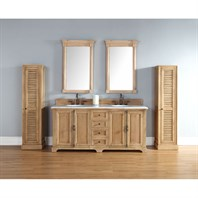 "James Martin 72"" Providence Double Cabinet Vanity - Natural Oak 238-105-5721"