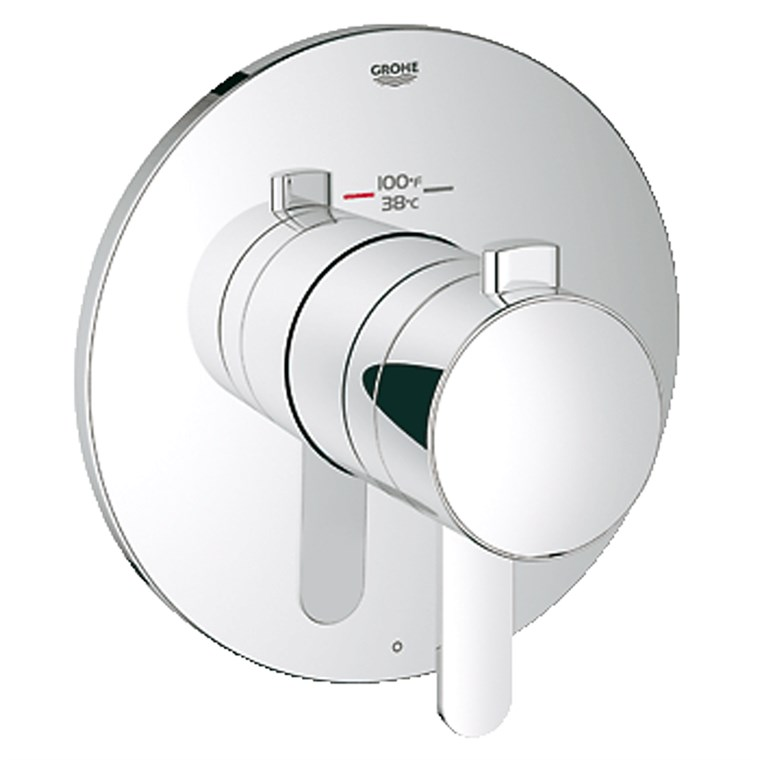 Grohe Europlus Single Function Thermostatic Trim with Control Module - Starlight Chrome GRO 19869000