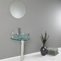 Fresca Netto Modern Glass Bathroom Vanity with Wavy Edge Vessel Sink FVN1036