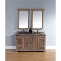 "James Martin 60"" Providence Double Cabinet Vanity - Driftwood 238-105-5611"