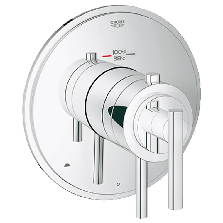 Grohe Atrio Dual Function Thermostatic Trim with Control Module - Starlight Chrome GRO 19849000
