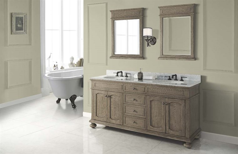 "Fairmont Designs Oakhurst 72"" Double Bowl Vanity for Undermount Oval - Antique Grey 1535-V7221D_"