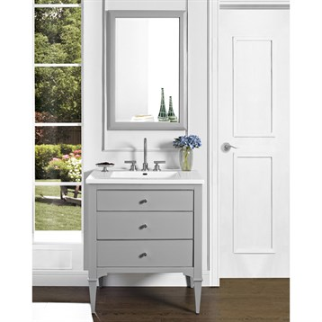 "Fairmont Designs Charlottesville 30"" Vanity for Integrated Sinktop, Light Gray 1510-V30- by Fairmont Designs"