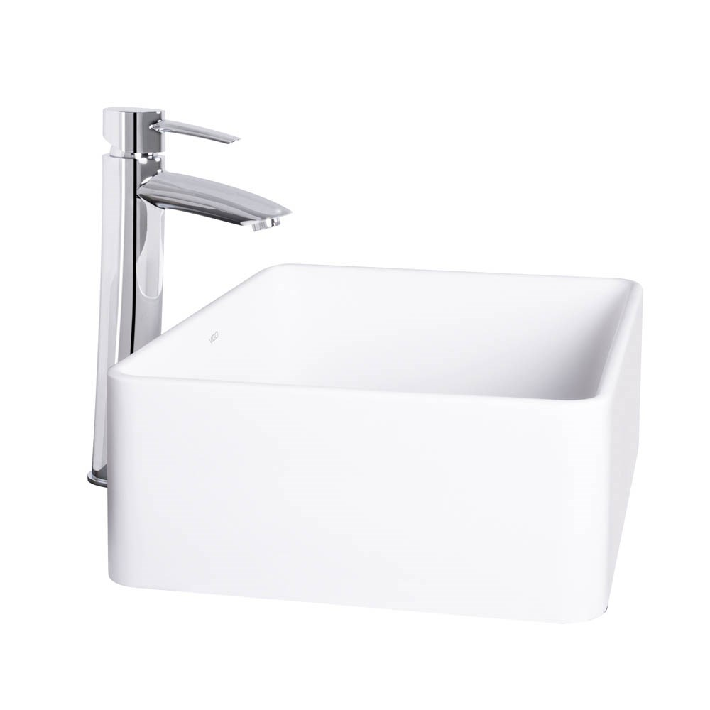 VIGO Caladesi Matte Stone Vessel Sink and Shadow Bathroom Vessel Faucet in Chromenohtin Sale $269.90 SKU: VGT1023 :