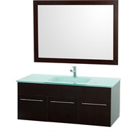 "Genoa 48"" Wall Mount Single Bathroom Vanity Set - Espresso K-W052-48-ESP"