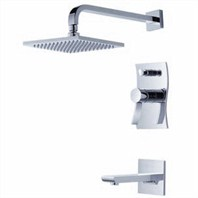 fluid Viola Pressure Balancing Tub & Shower Trim Package F1240-T
