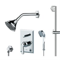 fluid Symmetry - Handheld Shower with Slide Bar Trim Package F1754T-