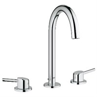 "Grohe Concetto 3-Hole Lavatory Wideset, 1/2"" L-Size - Starlight Chrome GRO 20217001"