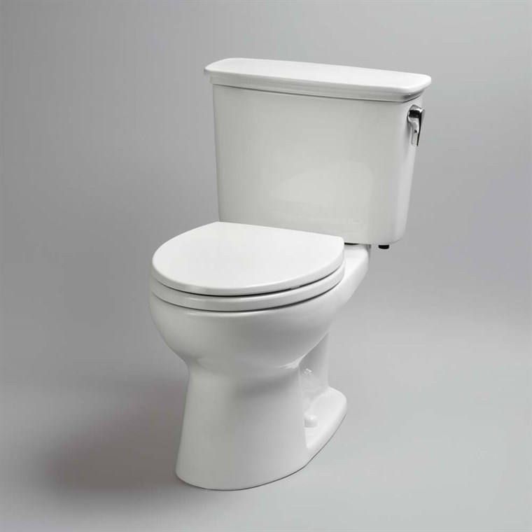 TOTO Eco Drake Transitional Two-Piece Elongated Toilet, 1.28 GPF - Right Hand Lever CST744ERN.01