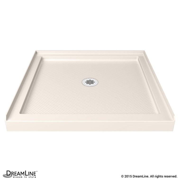 "Bath Authority DreamLine SlimLine Single Threshold Shower Base (32"" by 32"") - Biscuit DLT-1132320-22"