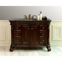 "Design Element Shakespeare 48"" Single Sink Vanity Set w/ Under Mount Sink DEC405B-BG"