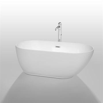 """Melissa 60"""" Soaking Bathtub by Wyndham Collection WC-BT1000-60 by Wyndham Collection®"""