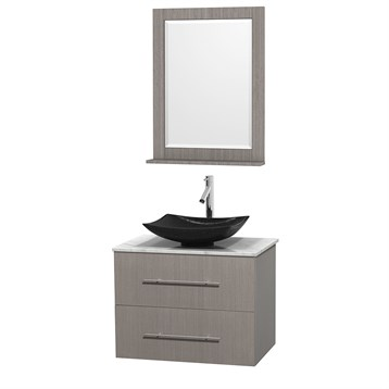 "Centra 30"" Single Bathroom Vanity for Vessel Sink by Wyndham Collection, Gray Oak WC-WHE009-30-SGL-VAN-GRO_ by Wyndham Collection®"