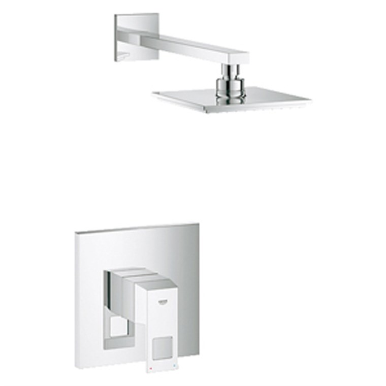 Grohe Eurocube Pressure Balance Valve Shower Combination - Starlight Chrome GRO 23148000