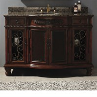 "James Martin 53"" Venetian Single Vanity - Brown Cherry 206-001-5159"