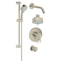 Grohe Atrio Grohflex Bath and Shower Set - Brushed Nickel GRO 35055EN0