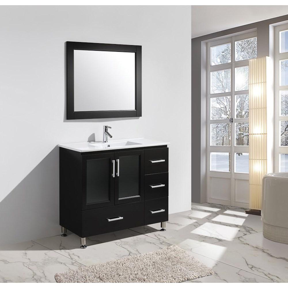 """Design Element Stanton 40"""" Bathroom Vanity Set with Drop-In Sink - Espressonohtin Sale $899.00 SKU: B40-DS :"""