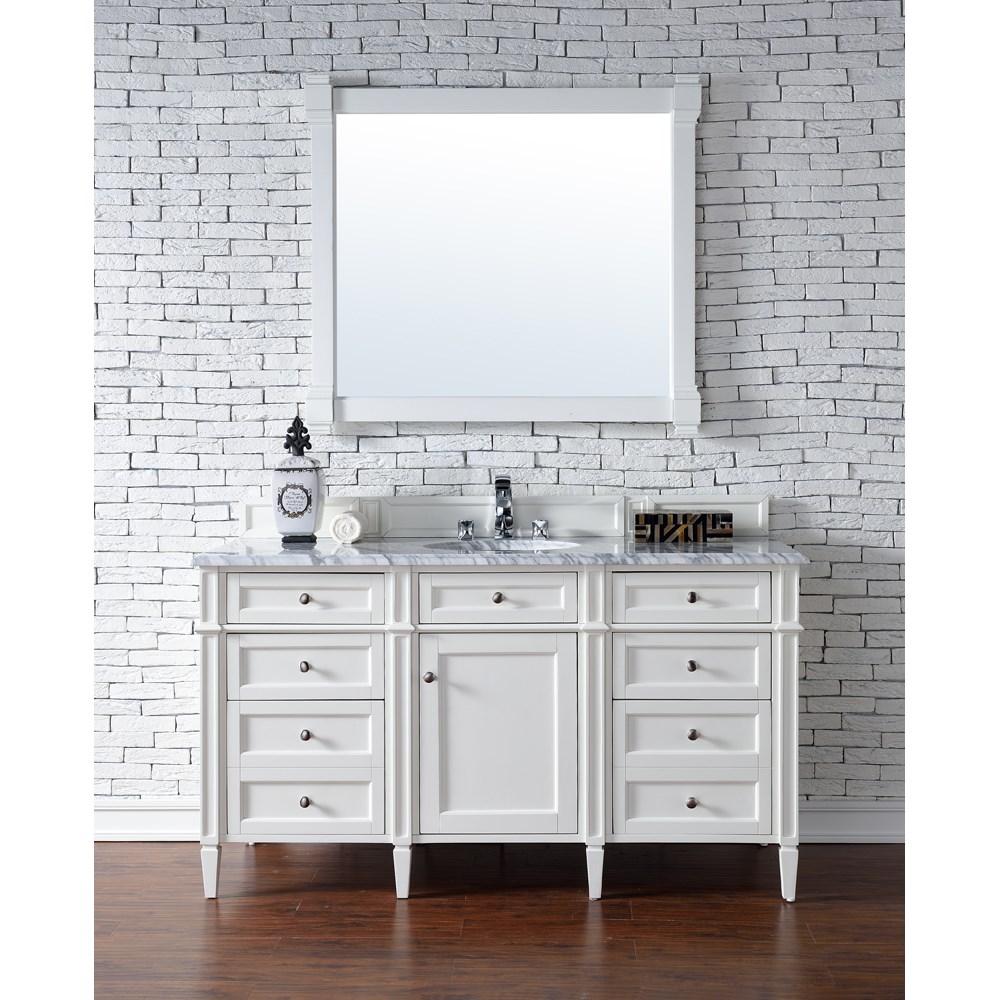 "James Martin 60"" Brittany Single Vanity - Cottage Whitenohtin Sale $1395.00 SKU: 650-V60S-CWH :"
