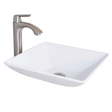 Vigo Hibiscus Matte Stone Vessel Bathroom Sink VG04004 by Vigo Industries