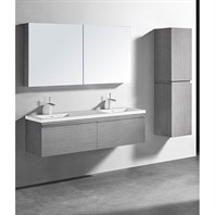 "Madeli Venasca 60"" Double Bathroom Vanity for Integrated Basin - Ash Grey B990-60D-002-AG"