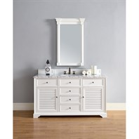 "James Martin 60"" Savannah Single Vanity - Cottage White 238-104-V60S-CWH"