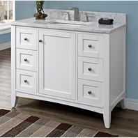 "Fairmont Designs Shaker Americana 42"" Vanity for 1-1/4"" Thick Top - Polar White 1512-V42"