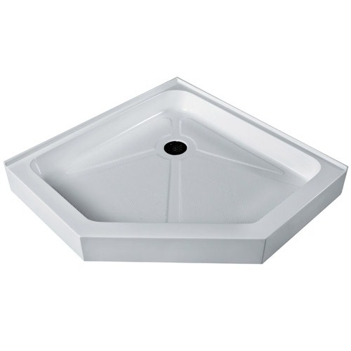"Vigo Industries Neo-Angle Shower Base - 47"" x 47""nohtin Sale $558.99 SKU: VG06069WHT47 :"