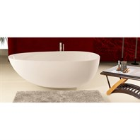 Aquatica PureScape 204 Freestanding AquaStone Bathtub - White Multiple Sizes Aquatica PureScape 204