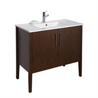 VIGO 36-inch Maxine Single Bathroom Vanity - Wenge VG09041118K1