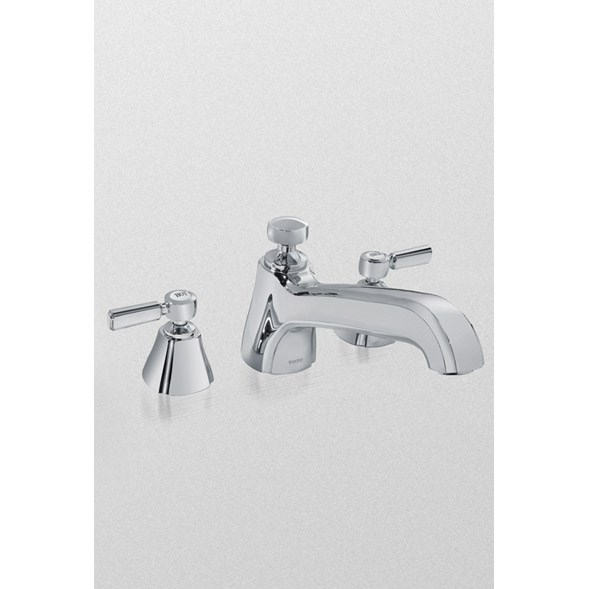 TOTO Guinevere™ Deck Mount Lever Handle Faucet - Polished Chrome TB970DD1.CP