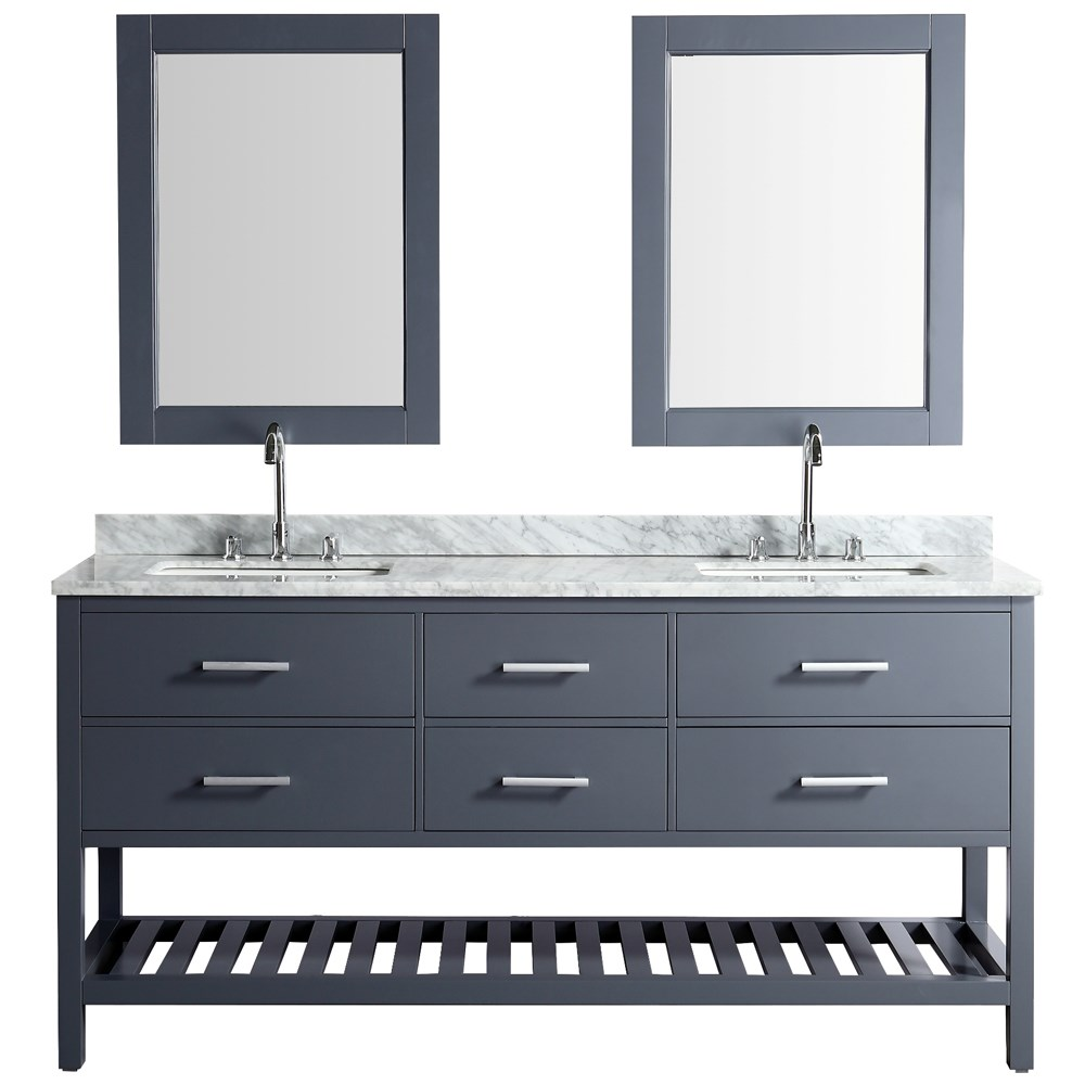 Design element london cambridge 72 double sink vanity set gray free shipping modern bathroom