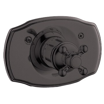 Grohe Geneva Thermostat Trim with Cross Handle - Oil Rubbed Bronzenohtin Sale $380.99 SKU: GRO 19615ZB0 :