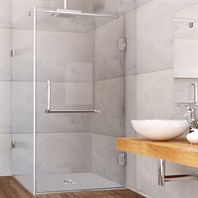 "Vigo Industries Frameless Rectangular Shower Enclosure - 36"" x 48"", Clear VG6012CL-36x48"