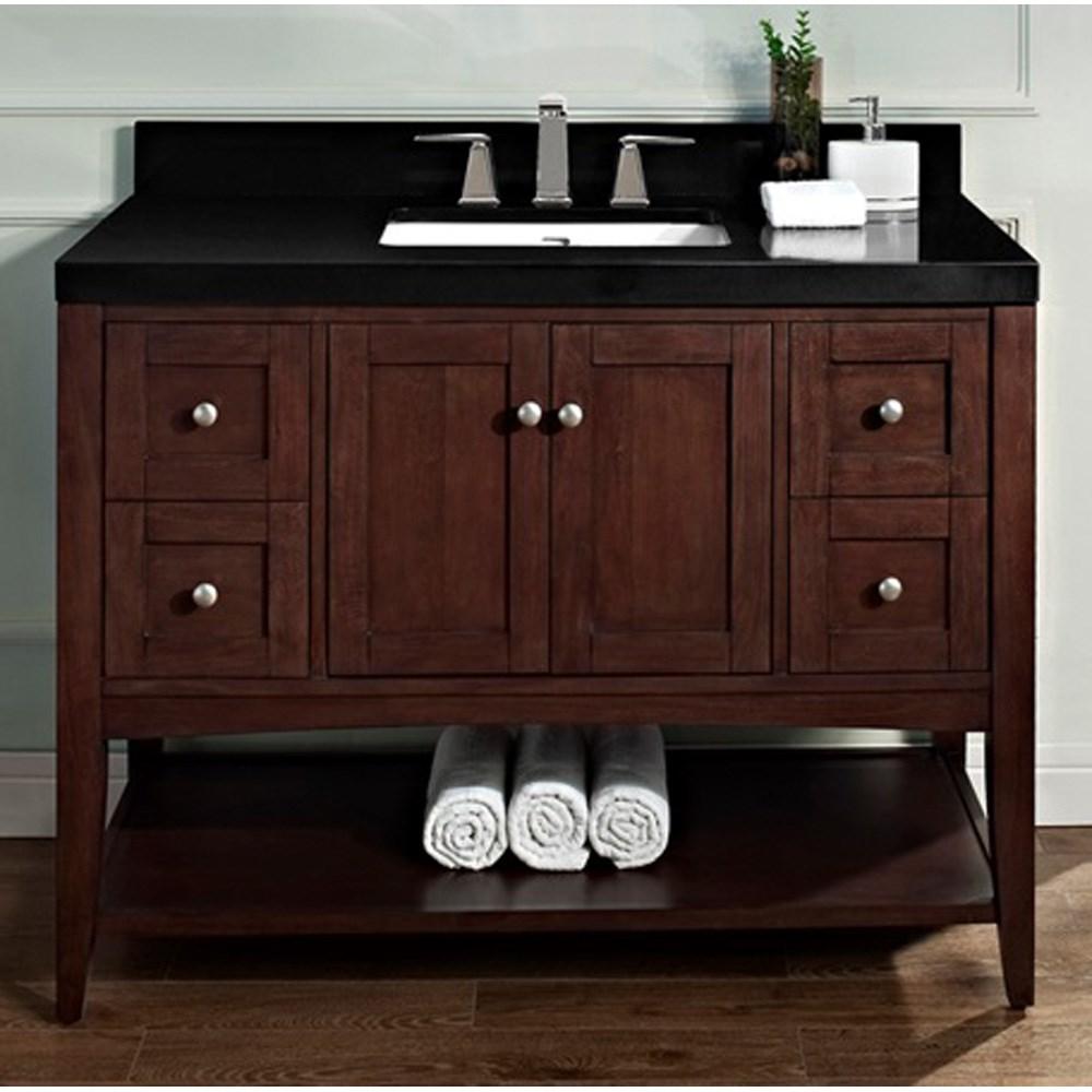 "Fairmont Designs Shaker Americana 48"" Vanity - Open Shelf for Quartz Top - Habana Cherrynohtin Sale $1415.00 SKU: 1513-VH48 :"