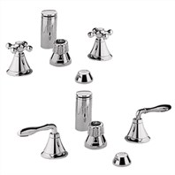 Grohe Seabury Wideset Bidet Faucet - Sterling Infinity Finish