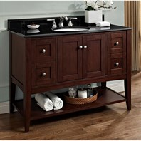 "Fairmont Designs Shaker Americana 48"" Vanity - Open Shelf - Habana Cherry 1513-VH48_"