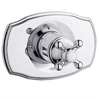 Grohe Geneva Pressure Balance Valve Trim with Cross Handle - Starlight Chrome