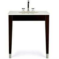 "Cole & Co. 31"" Custom Collection Clarissa Medium Modern Vanity - Espresso"