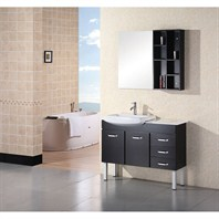 "Design Element Belini 43"" Double Bathroom Vanity - Espresso DEC078A"