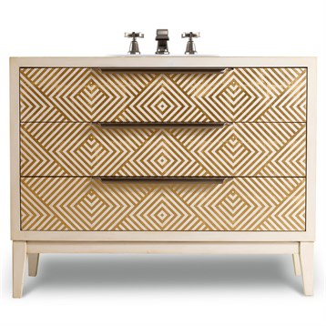 """Cole & Co. 46"""" Designer Series Avery Hall Chest, Briallian Diamond White 11.22.275546.61 by Cole & Co."""
