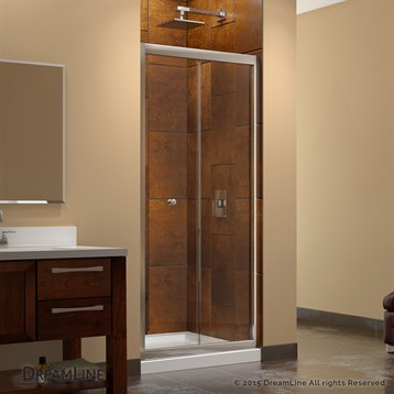 Bath Authority DreamLine Butterfly Frameless Bi-Fold Shower Door ...